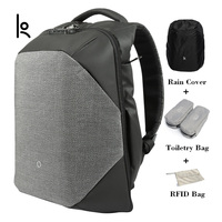 K Click USB Charging Anti Cut Solid Backpacks Scientific Storage System Bags External Laptop Backpack For Man And Women
