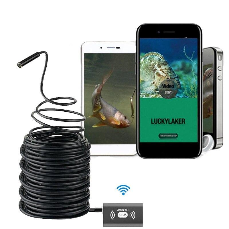 Tragbare Wifi Angeln Finder Inspektion HD Nachtsicht Kamera 10 m Kabel Unterwasser Kamera Fisch Finder Fit für Android iOS telefon