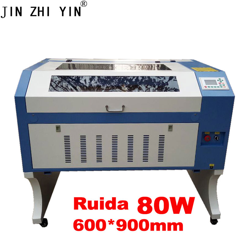 6090 80W Laser Engraving Machine 900*600mm Co2 Laser Cutting Machine With Up And Down Table 110V/220V USB Interface Free Ship