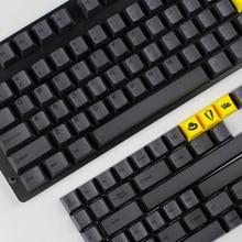 Kbdfans farbstoff subbed keycap set 152 schlüssel kirsche profil für usb wried mechanische tastatur 1,75 shift puller pbt schlüssel iso schlüssel