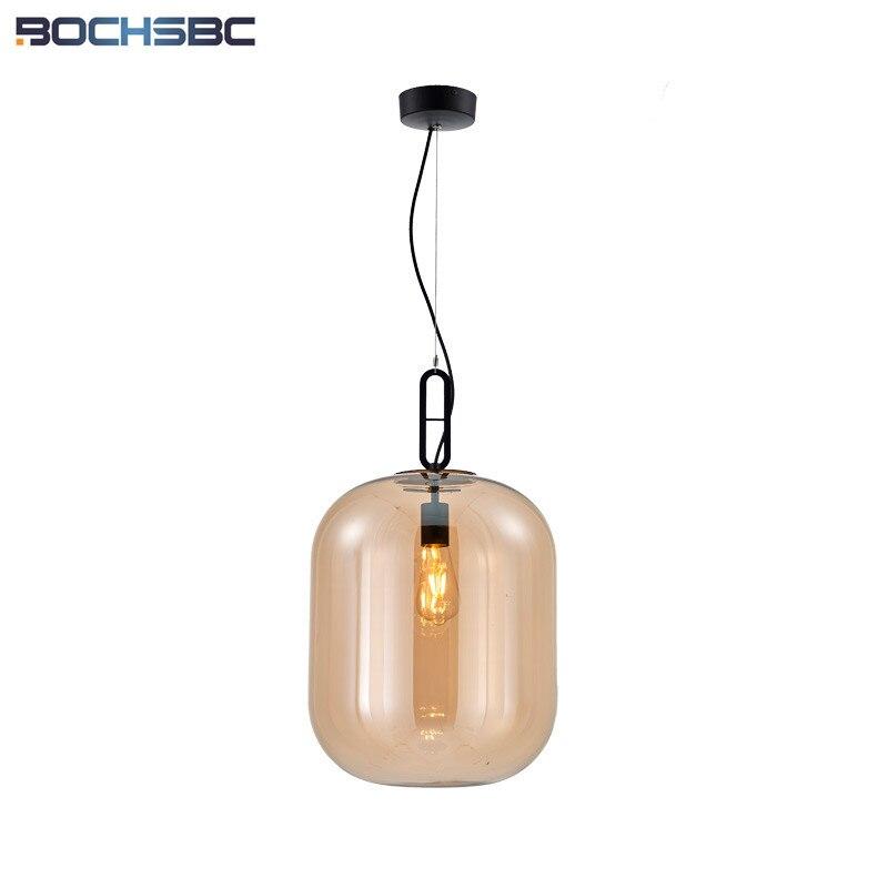 Moderne Pendentif En Verre Lumières Salon Salle À Manger Pendant Lamp Creative Verre Cire Gourde Luminaire