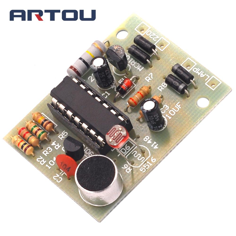 Integrated Circuits Electronic Components & Supplies Smart Energy Saving Lamp/led Light/incandescent Light Cd4011 Sound And Light Control Switch Kit Diy Voice Control Parts Module Handsome Appearance
