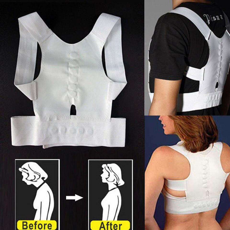 Magnetic Posture Corrector Corset Women Men Back Support Brace Straightening Orthopedic Black White Vest Corset Belt