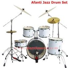 5 Drums 4 Cymbals Lvory color Afanti Music Jazz Drum Set Drum kit AJDS 423