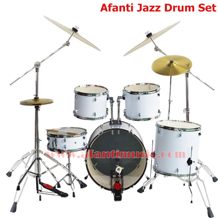 5 drums 4 cymbals lvory color afanti music jazz drum set drum kit ajds 423 in drum from. Black Bedroom Furniture Sets. Home Design Ideas