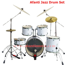 5 Drums 4 Cymbals / Lvory color / Afanti Music Jazz Drum Set / Drum kit (AJDS-423)