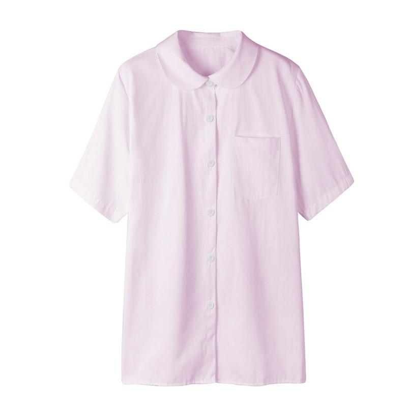 Japanese school uniform short sleeve shirt pink moe moe for Short sleeve school shirts
