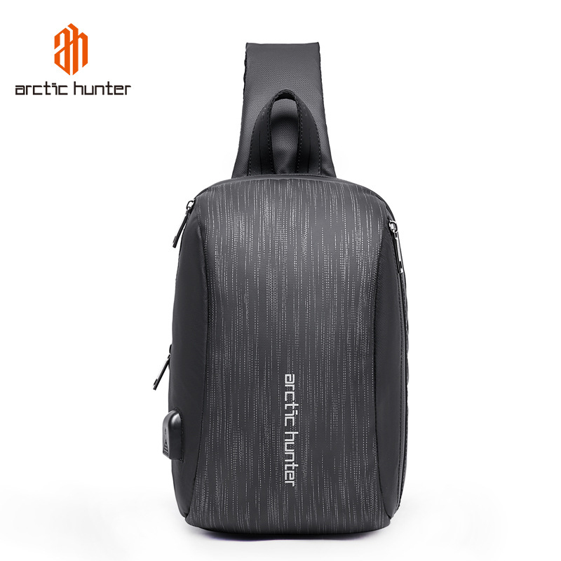 ARCTIC HUNTER  Men USB Waterproof Chest Bag Male Leisure Messenger Shoulder Bag For Teenagers  Travel Crossbody Bolsas
