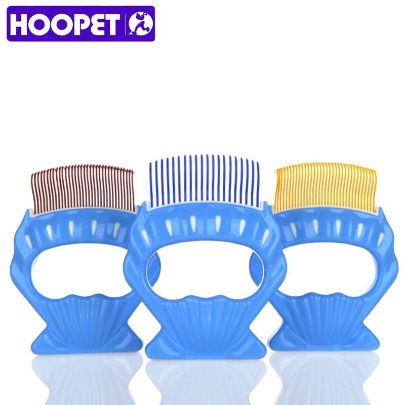 HOOPET Pet Grooming Cat Dog Accessories Soft Plastic Comb Shellfish Hair Comb Three Colors Pet Supplies
