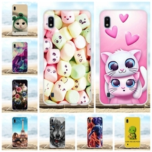 For Samsung Galaxy A10 Case Soft TPU Silicone SM-A105F Cover Cat Patterned Funda