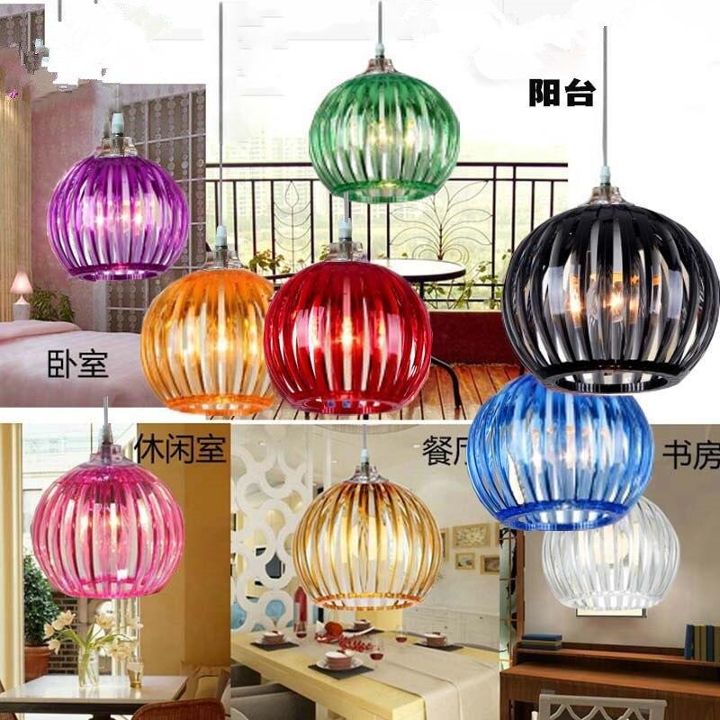 все цены на LED Color Acrylic creative buffet meal cafe children study 31w - 40w pumpkin lamp 220v-240v   @-9