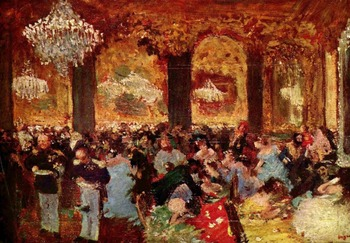 High quality Oil painting Canvas Reproductions Dinner at the Ball (1879)   By Edgar Degas hand painted