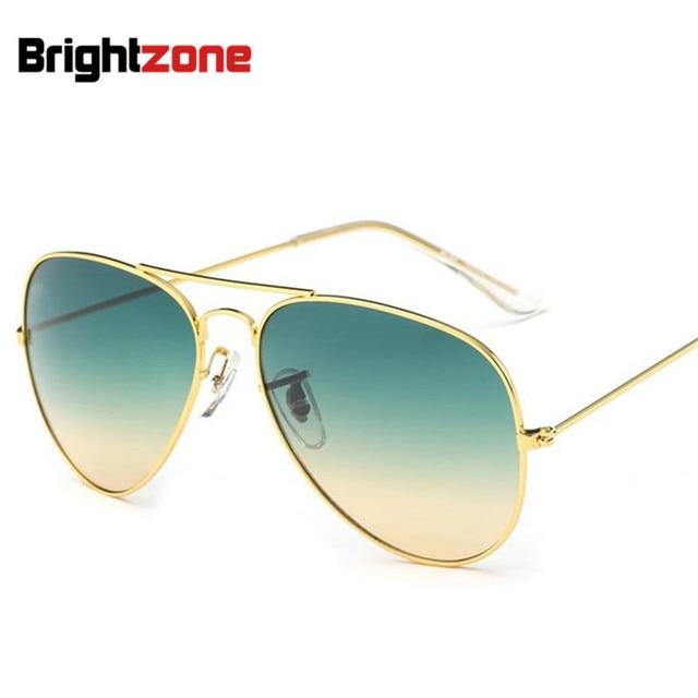 Brightzone Mode Couleur Vintage Femmes Hommes de Pilote Gradient Océan  Coloré Lentilles Aviiator Soleil-ombre 547de0449fa9