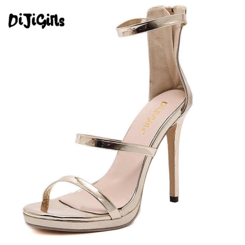 4aa4f4b56521 2017 Gold Silver Nude Black Celebrity Brand New Desiger Womens Bridesmaid  Bridal Wedding Pumps Strappy Open