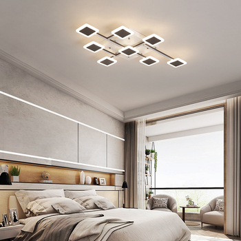 Modern LED Creative Chandelier Lighting For Bedroom Living Room Dining Room Aluminum Acrylic Chandelier Lustre Light Fixtures