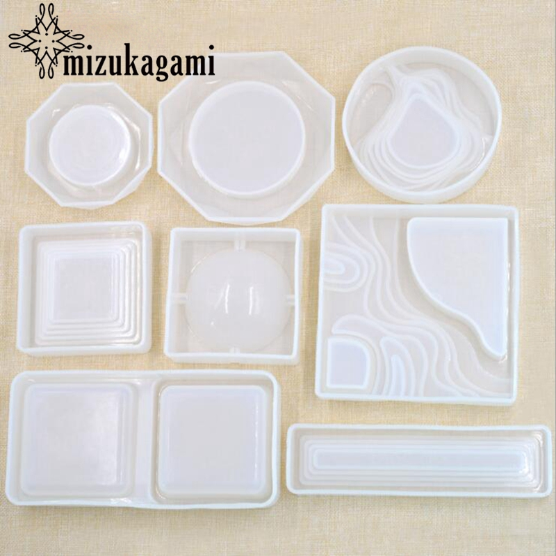 1pcs Transparent Silicone Plaster Box Die Drop Die Resin Molds For DIY Fashion Jewelry Making Finding Accessories