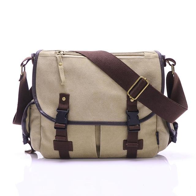 ac5e9f6d28bd6 Nova moda tampa sólida zipper ocasional bolsa de ombro dos homens Saco de  Lona Faculdade escola