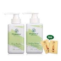 2 pièces Organica 300ml shampooing naturel puirfiant + 300ml bio hydrolysé kératine forme Booster traitement défrisant