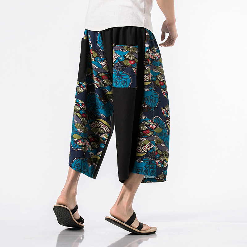 Pepe Hot Sale Jogger Spring And Summer 2018 Teenagers Wide-legged Pants Chinese National Wind Plus-size 7 Points Straight Men's