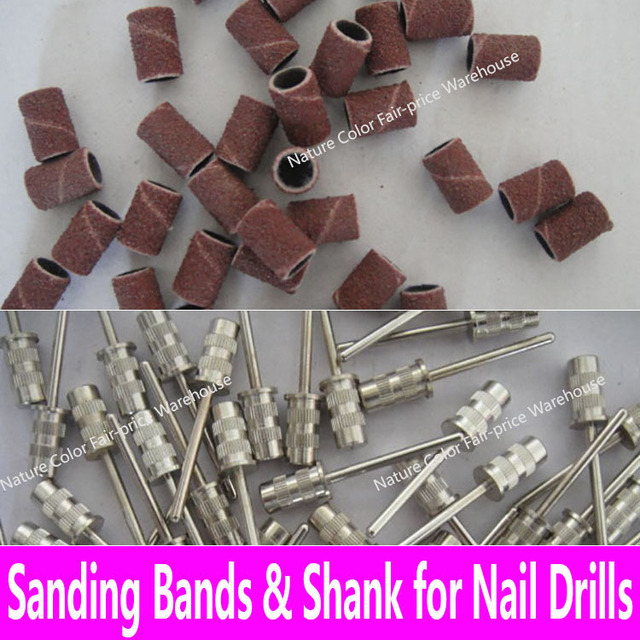 100pcs Sanding Bands Replacement Sleeves Set Nail Electric Drill Bits 40 80 120 150 180 240 320 400 600 Power Drill Accessories