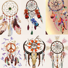 1pc Temporary Tattoo Sticker Waterproof Cartoon Dreamcatcher Feather Body Sternum Fake Tattoo Stickers Tatoo Tatto #b(China)