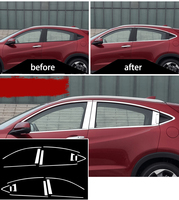 Stainless steel Exterior Window Sill Lid Trims car accessories for honda hrv honda vezel 2015 2016 2017 2018 Car Styling