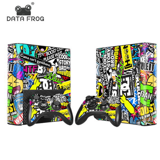 Cool for Microsoft X BOX 360 E Popular Game Sticker Cover Vinyl Decals Console and 2 Game Controller Skins Free Shipping