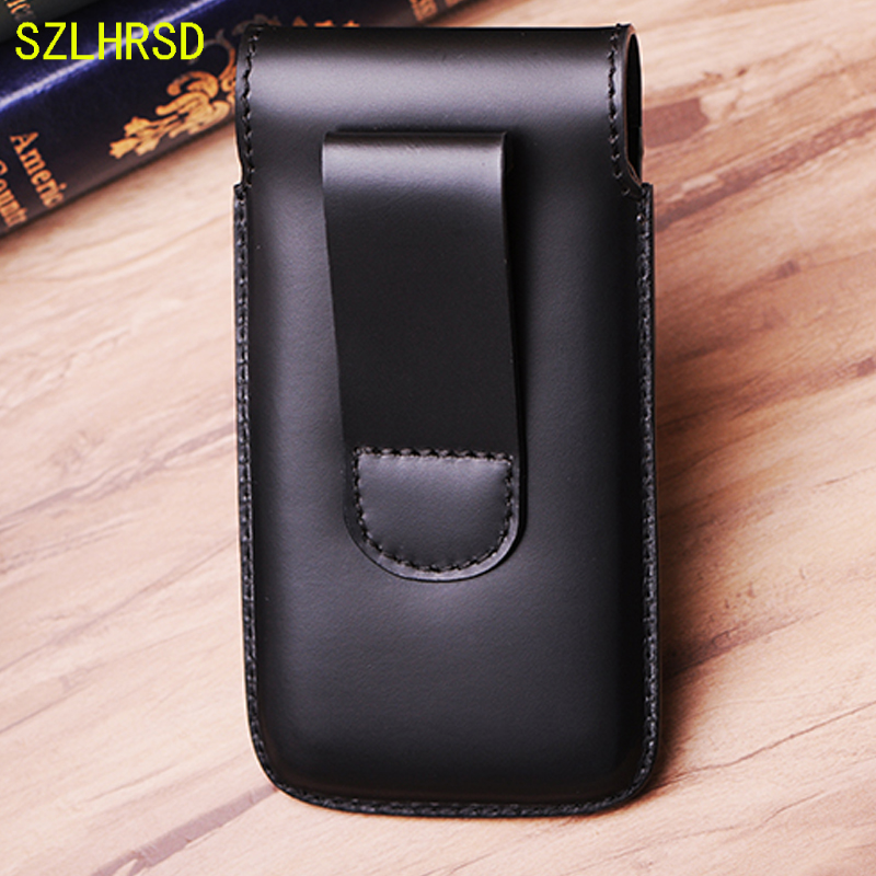 b697221315 SZLHRSD Men Belt Clip Genuine Leather Pouch Waist Bag Phone Cover for  Doogee S60 Lite X55 X53 X60L Cases Black Cell Accessory -in Wallet Cases  from ...