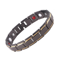 цены Stainless Steel Magnetic Therapy Bracelet for Men Women Magnetic Hematite Braclet Energy Healing Bracelet Health Care Jewelry