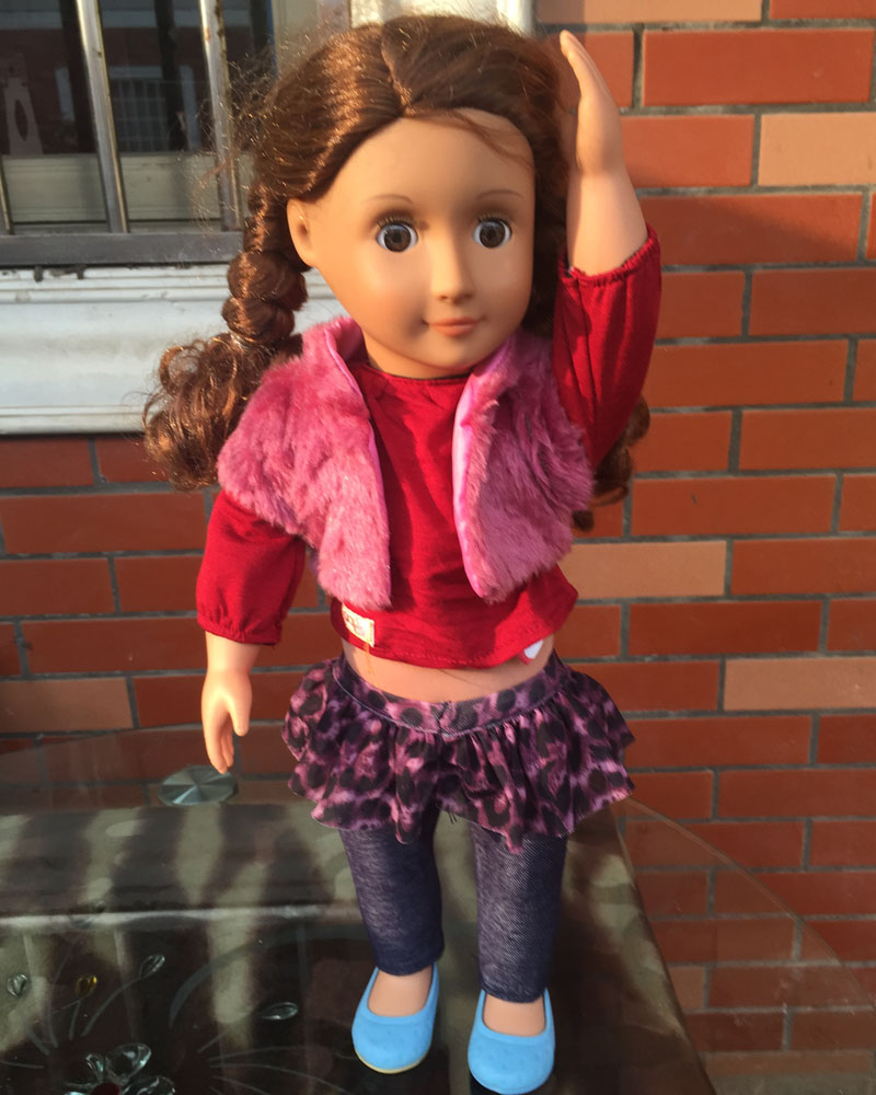 18 inch american girl doll Our Generation Doll Birthday gift ,Christmas Gift for Girls With Clothes  free shpping  ADG14 girls generation tts christmas special