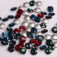 Direct Deal High Grade 8mm Round Fillet Shape Pointback Crystal Glass Rhinestones Nail Art Mobile Shell