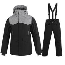5ab885664b Esquí de hombre nueva marca de Snowboard chaqueta + Pantalones adultos ropa  de nieve caliente impermeable
