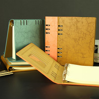 Cheng Jia Spiral Notebook A5 Retro Leather Journal Daily Planner Notebooks Writing Pads Office School Travelers Notebook Binder