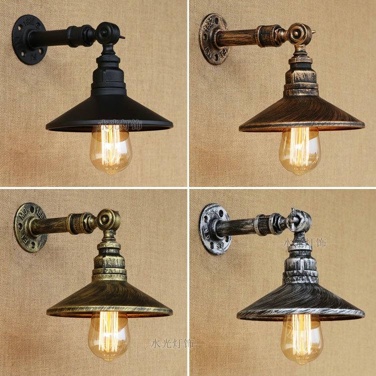 Steam punk Loft Industrial iron rust Water pipe retro wall lamps Vintage E27 LED sconce wall lights for living room bedroom barSteam punk Loft Industrial iron rust Water pipe retro wall lamps Vintage E27 LED sconce wall lights for living room bedroom bar