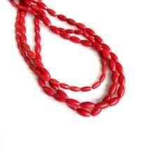 Оптовая продажа 1 струна натуральный красный коралл 3x6 мм 4x8