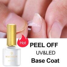 BORN PRETTY Base Top Coat Gel Nail Polish 6ml Matte Gel Gel Varnish Manicure Reinforcement Gel Peel Off Varnishe Nail Art Design