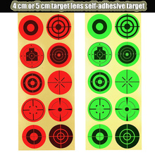 50PCS Aims Self-Adhesive Target Sticker Diameter 4cm/5cm 10 Patterns Outdoor Practice Shooting Stickers