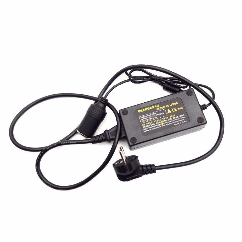 Hot Sale] 220V to 12V Portable Car Cigarette Lighter Socket
