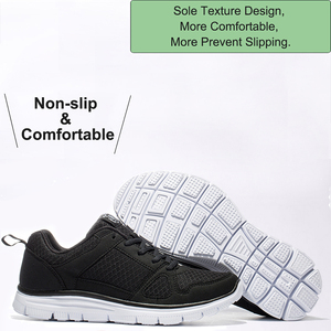 Image 4 - 2020ใหม่ชายรองเท้าSuper Light Breathableตาข่ายรองเท้าผ้าใบManเดินสบายรองเท้าLace Upรองเท้าสีดำชาย40 50