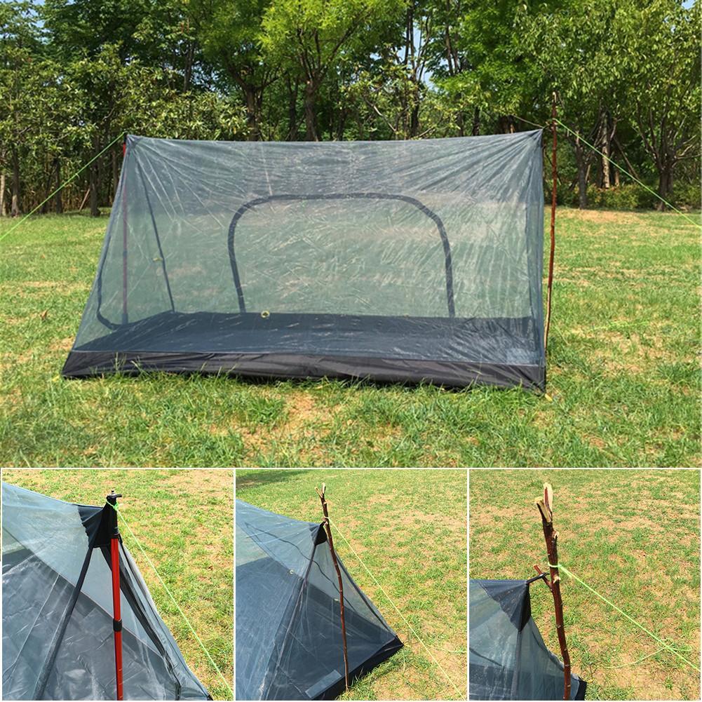 2018 tente de Camping en forme de A Portable sans poteau moustiquaire totale tente en filet Ultra légère équipement de plein air fournitures de Camping