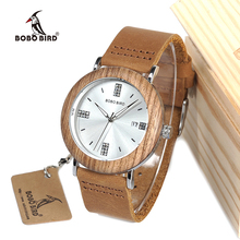 BOBO BIRD O28  diamondQuartz Watch Stainless Steel Watch with Real Leather Strap for Men Women in Gift Box