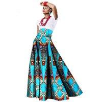 2019 summer african women clothing Long Maxi Dashiki for women Bazin riche robe longue femme Plus Size print cotton skirt