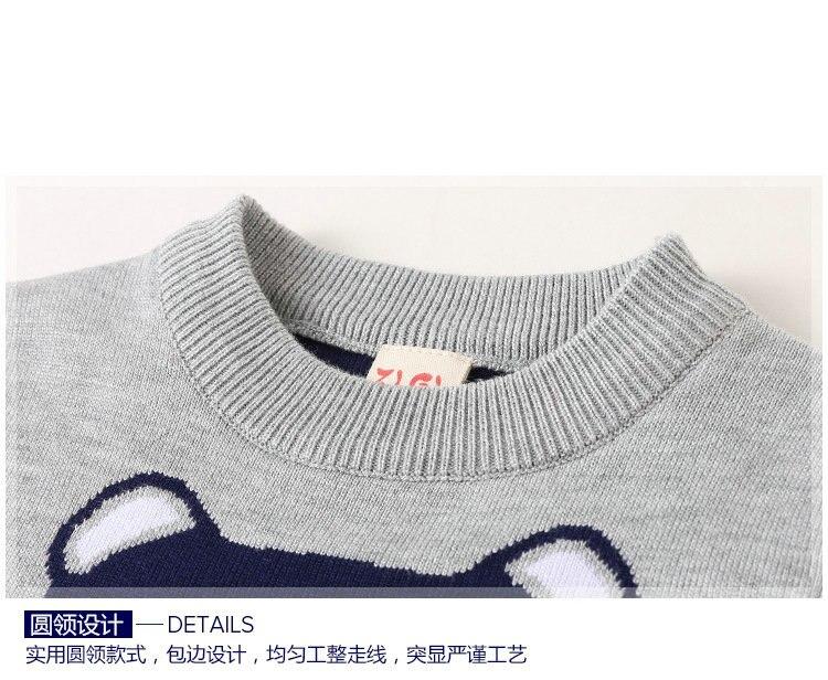 02fd3b66368c Hot Sale Baby Girls Boys jumper Autumn Winter Cartoon Bear Sweaters ...