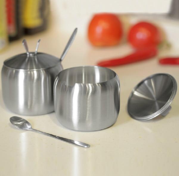 European kitchen gadgets stainless steel spice jar dining suite ...