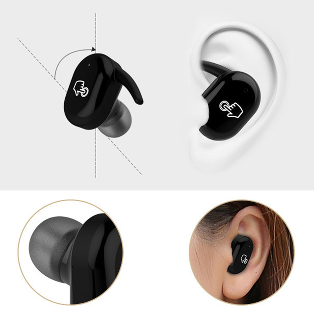 Touch two wireless Bluetooth Earphone Headset IPX5 waterproof True Touch Headset with power bank for phones PC Twins Earbuds 2
