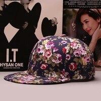 2016 Baseball Cap Women Hip Hop Hats For Men Casquette Hat Floral Print Summer Outdoor Mesh