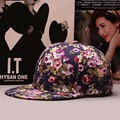 2016 Summer Floral Baseball Cap Women hip hop Hats Casquette Adjustable Hat Flower Print Outdoor Snapback Cap Sport Gorras