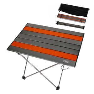 Image 3 - נייד מתקפל שולחן Ultralight סגסוגת אלומיניום חיצוני קמפינג פיקניק שולחן שולחן רב כלי חיצוני