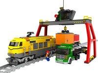 Ausini Building Blocks Train Model Educational DIY Toys Bricks Train station Freight Train Building Block Sets