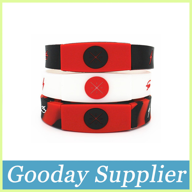 Basketballer Wade Silicone Bracelet Mix Color Debossed Rubber Wristband 3 Colors Fashion Thick Band For